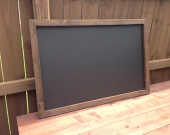 "24"" x 36"" Rustic Framed MAGNETIC Chalkboard, Rustic Wedding Chalkboard, Kitchen Menu, Menu Board, Rustic Frame"