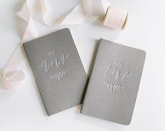 Letterpress Vow Journals (Set of 2)