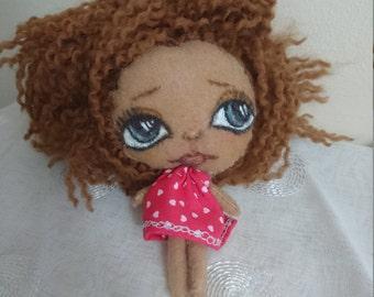 Art toy Handmade  Felt plush doll