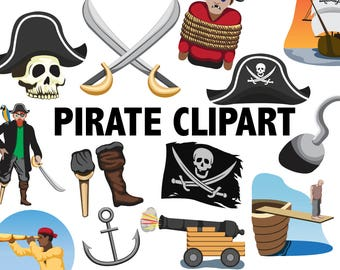 pirate flag clipart etsy