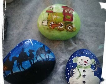 Customized hand painted rocks and other items