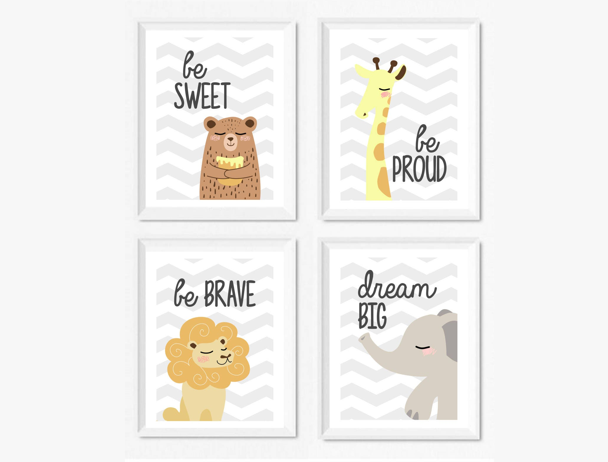 Poster camera bambini illustrazione be sweet orso be proud - Quadri per cameretta ...