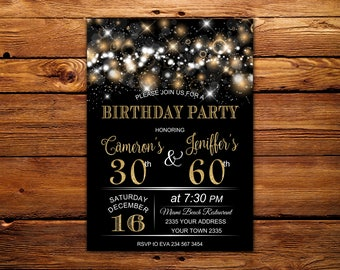 Combined birthday etsy search results favourite favourited add to added adult joint birthday invitation filmwisefo