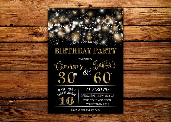 Adult joint birthday invitation joint birthday party filmwisefo