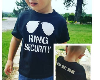 Ring Bearer Shirt - Ring Security Shirt - Wedding Rehearsal Shirt - Wedding Shirt Ring Bearer - Ring Bearer Gift - Ring Bearer Outfit