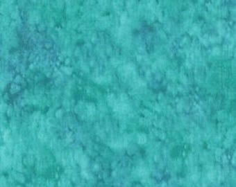 Splash Teal Abstract Blank Quilting Fabric