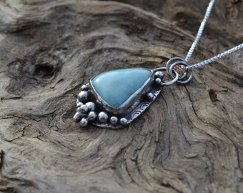 Serling Silver and Larimar Pendant