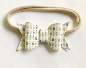 Baby Coffee Headband - Starbucks Headband - Girls Frappe Headband - Coffee Lovers Headband - Starbucks Bow Headband
