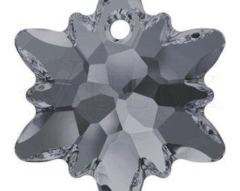 Swarovski 6748 Edelweiss Pendant  28 mm Crystal Silver Night