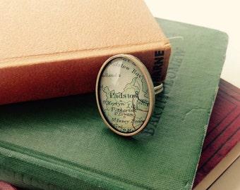 Bespoke Vintage Map Rings