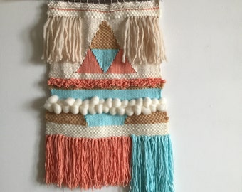 Woven wall hanging / Handwoven Tapestry Weaving Fiber Textile Wall Art Home Decor Evasdoodlings