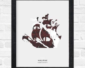 Halifax Tall Ship Print