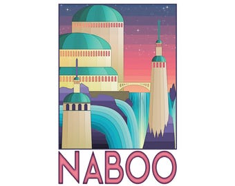 """Naboo 13"""" x 19"""" Travel Poster"""