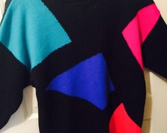 Geometric vintage sweater