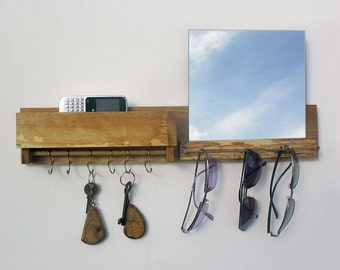 sunglasses holder with mirror