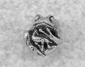 Green Girl Studios Tiny Tree Frog Pewter Bead