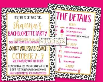 BACHELORETTE INVITATION, Timeline Bachelorette Invite, Timeline Invite,Bachelorette Timeline,Bachelorette, Pink and Gold Bachelorette Invite