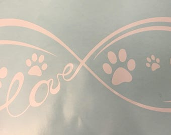 Infinity Puppy Love Decal