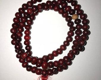 Buddhist Rose Wood Prayer Bead (Love)