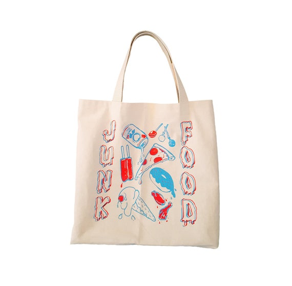 JUNK FOOD Large Tote Bag