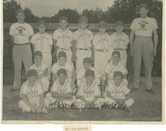 Mt. Ephraim New Jersey Rotary boys baseball team vintage sport photo