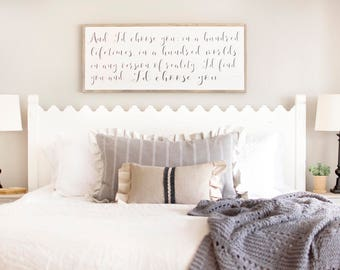 Id Choose You Sign | Id Choose You Bedroom Sign | Iu0027d Choose You
