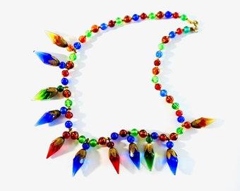Antique Art Deco Glass Necklace