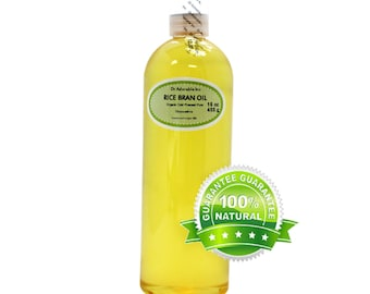 16 oz  Pure Rice Bran oil Organic Cold Pressed