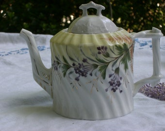 Teapot - Hand Painted - China - Vintage