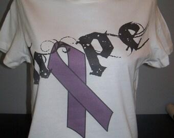 Pancreatic Cancer Awareness - Hope with Purple Ribbon Tee
