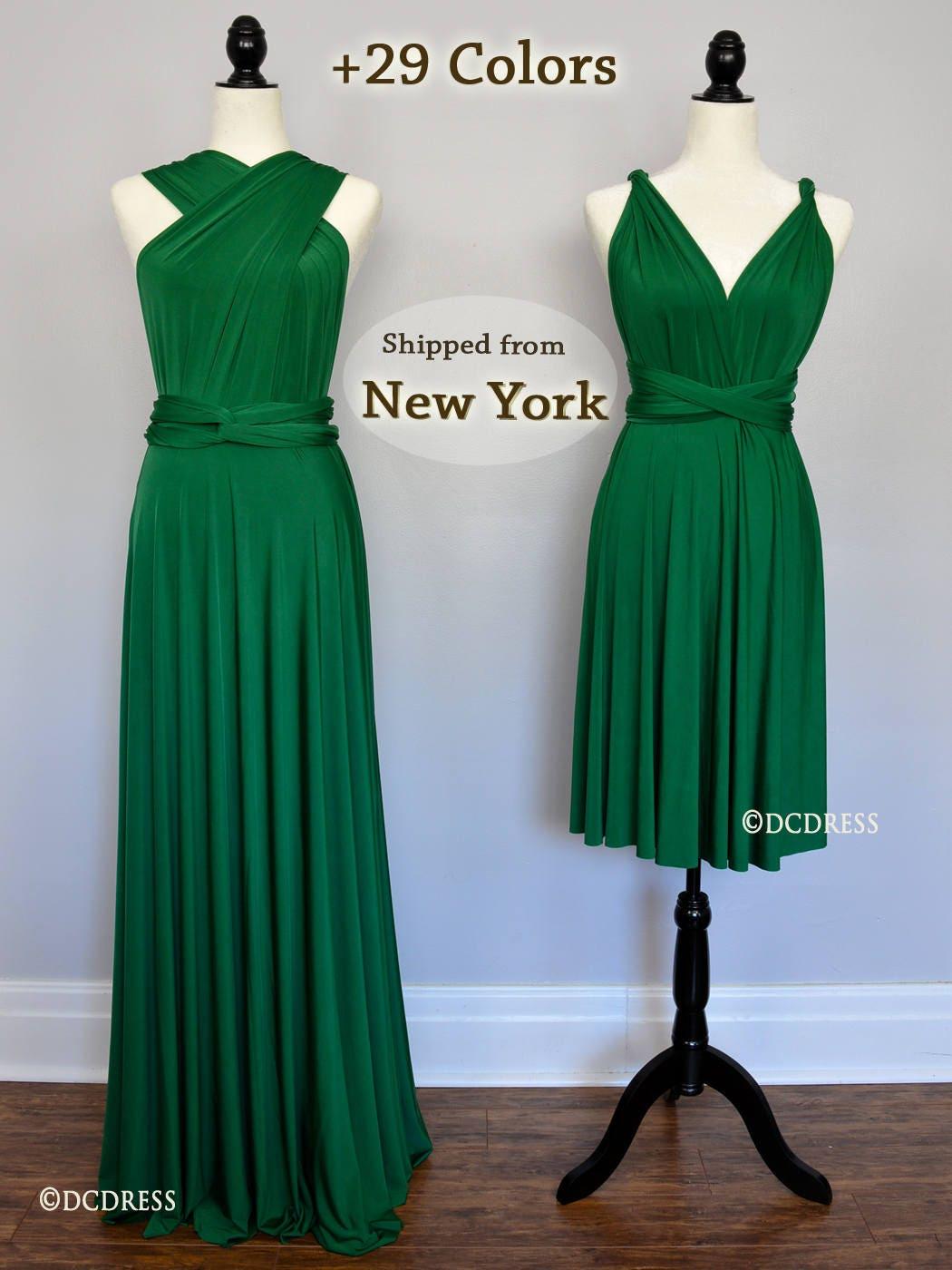 Emerald green bridesmaid dress forest green prom dress zoom ombrellifo Gallery