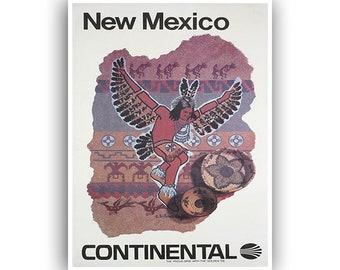New Mexico Art Print Travel Poster Retro Home Decor (XR1529)