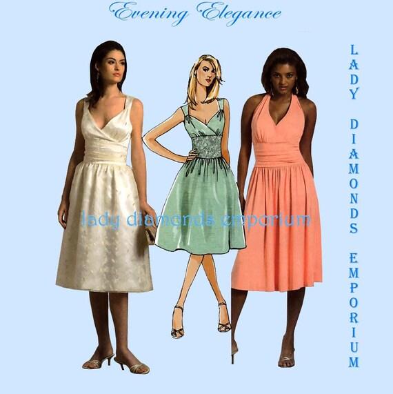 McCalls M5319 Womens Evening Dress Wedding Prom Date size 14