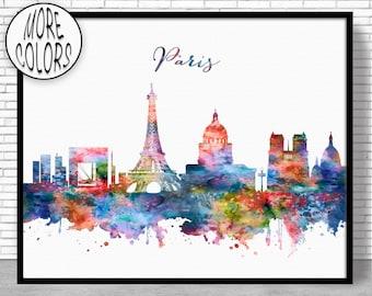 Paris  Paris Print Paris Decor Paris Skyline Office Decor Paris France Paris Poster Paris Wall Art Office Poster ArtPrintZone