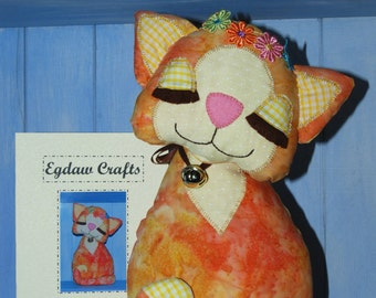 Daisy Cat Craft  Sewing Pattern by  Wendy  Wadge