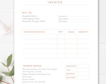 Invoice Template Receipt MS Word And Photoshop Template - Invoice word doc online store credit cards guaranteed approval