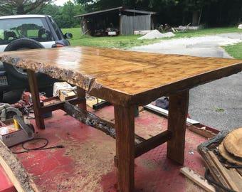 Live Edge Ambrosia Maple Patio / Dining / Farm / Harvest Table