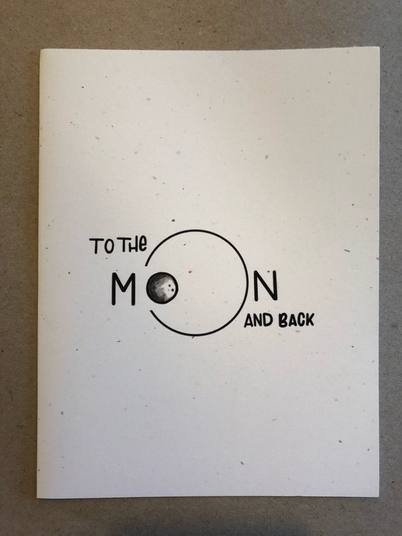 To the moon back greeting card m4hsunfo