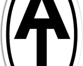 Appalachian Trail AT Logo Oval Bumper Sticker