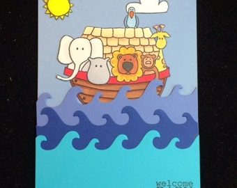 Noah's Ark Welcome Baby Greeting Card
