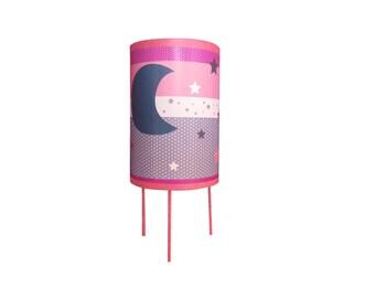 """Child lamp bedside lamp""""pink sky"""""""