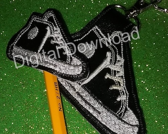 High Top Shoe Set Pencil Topper and Key Fob