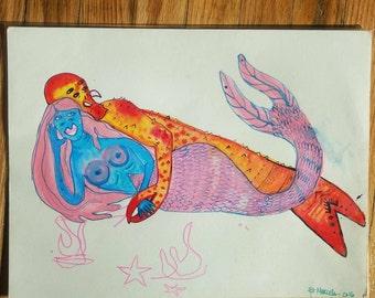 Lobster Mer Love - Original Illustration