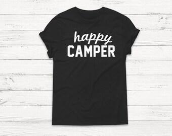 Happy Camper Shirt - Camping Shirt - Outdoor - Adventure - Explore - Nature - Vintage Shirt - Retro