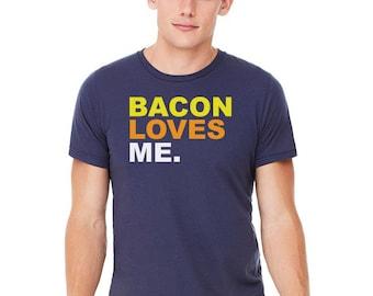 BACON LOVES ME Crew T-Shirt