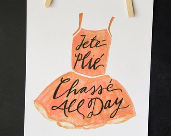 Ballet All Day Print