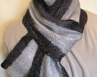 Cobweb Wet Felted Scarf - Reversible