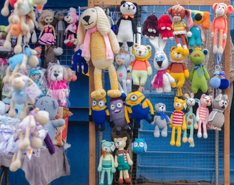 Knitted dolls and toys