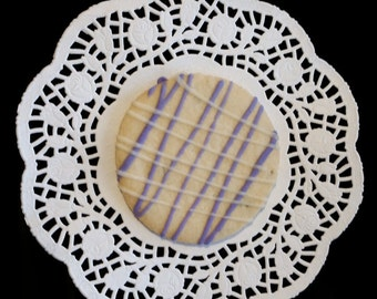 Lavender Cookies With Lemon Royal Icing- 1 Dozen