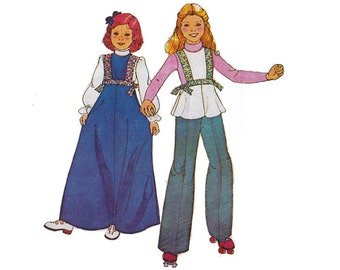 """1970's McCall's 5409 Girl's Jumper, Top Size 6    Bust 25""""/ 64cm    Vintage Sewing Pattern"""